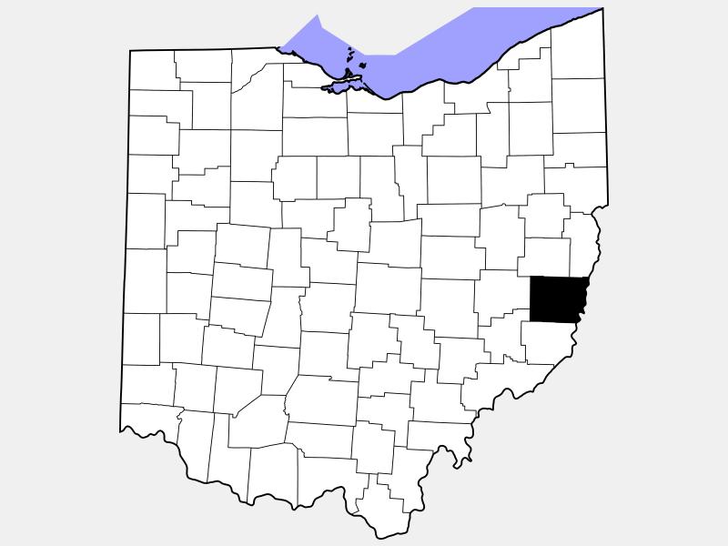 Belmont County locator map