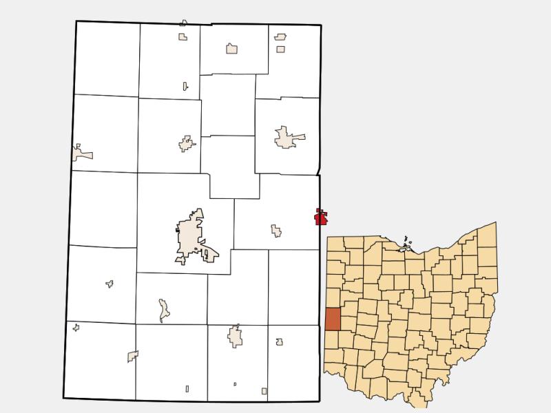 Bradford locator map