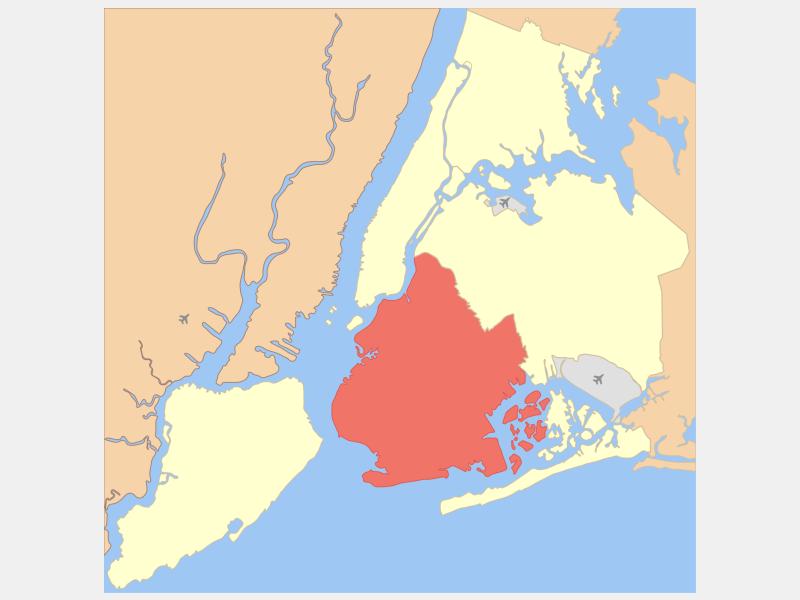 Brooklyn locator map
