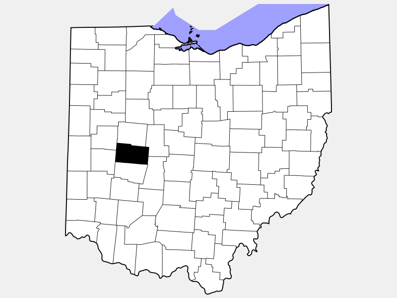 Champaign County locator map