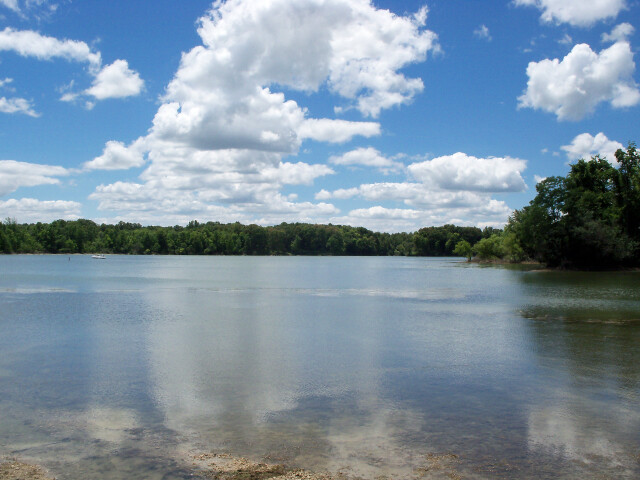 Kirwan Reservoir from boat launch at West Branch State Park image