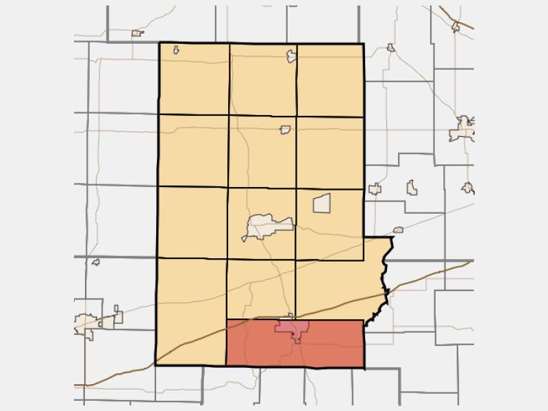 Cloverdale locator map