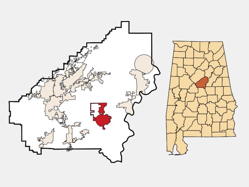 Columbiana location map