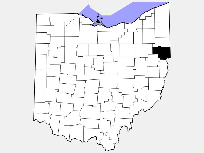 Columbiana County locator map