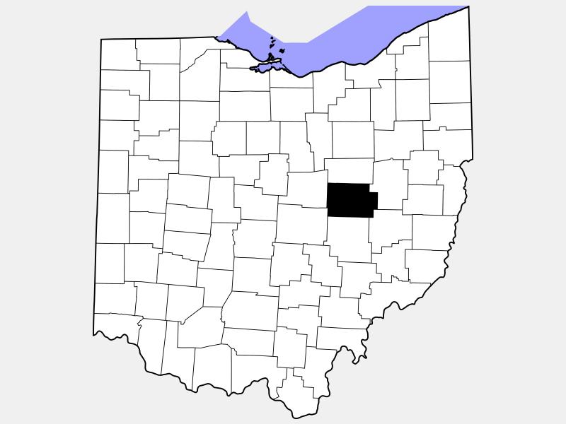 Coshocton County locator map