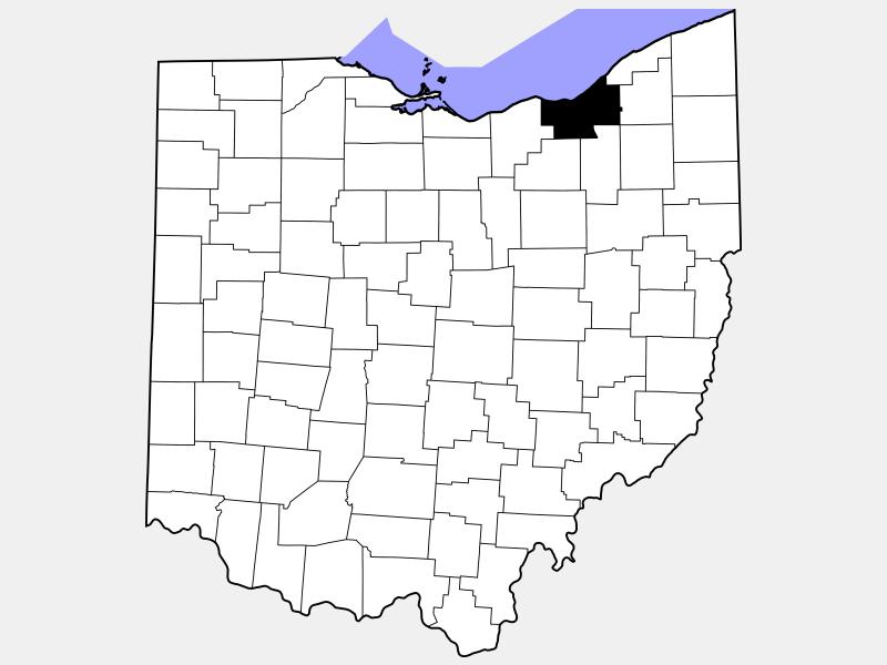 Cuyahoga County locator map