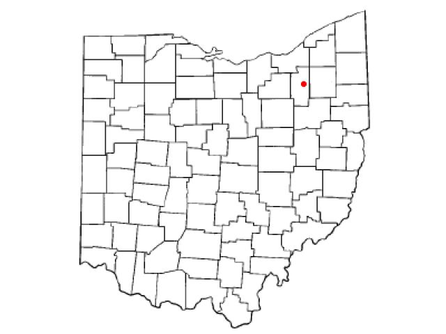 Cuyahoga Falls locator map