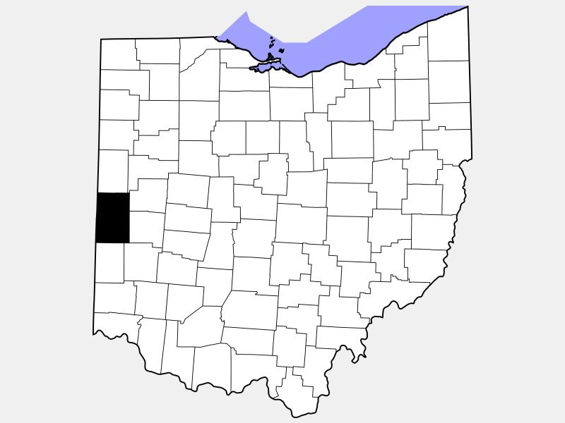 Darke County location map