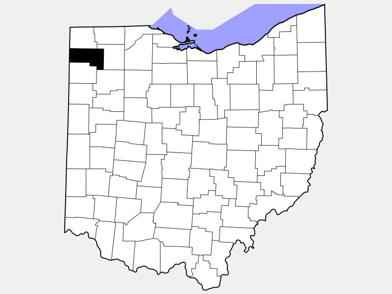 Defiance County locator map