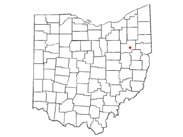 East Canton locator map