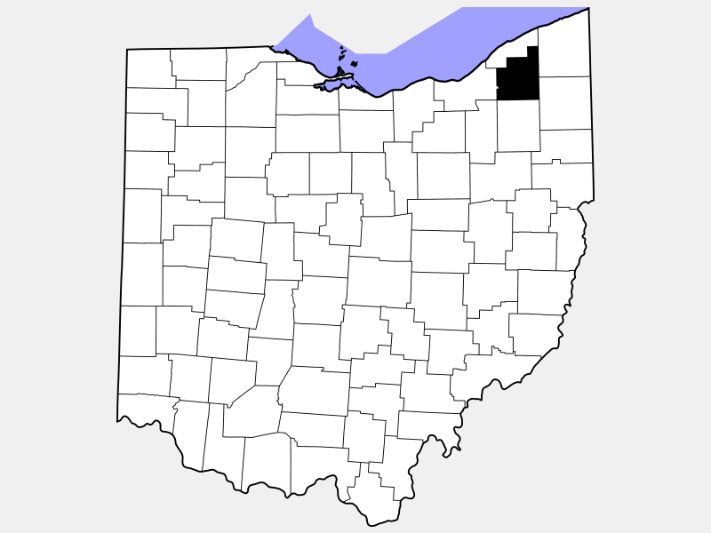 Geauga County locator map