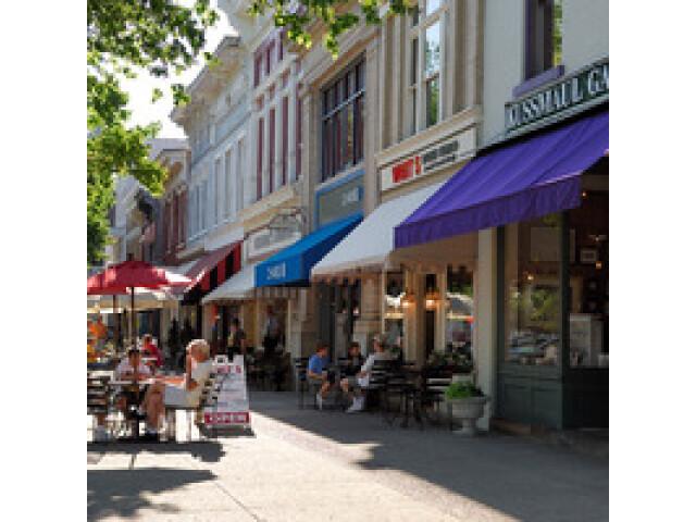 Downtown Scene in the Village of Granville Ohio image