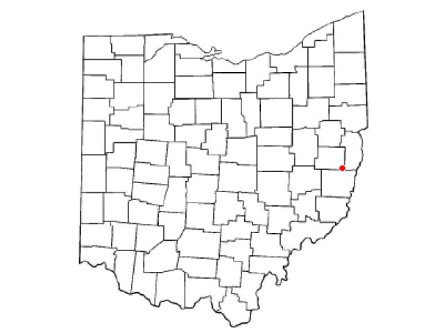 Harrisville locator map
