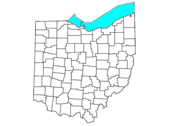 Kingsville locator map