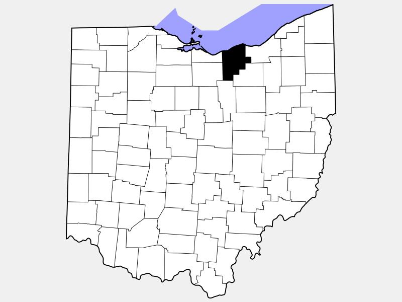 Lorain County locator map
