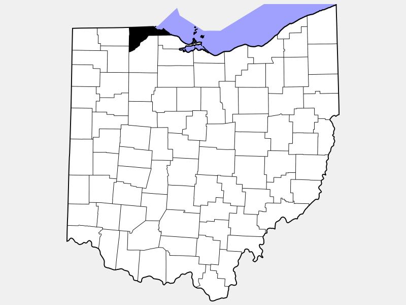 Lucas County locator map