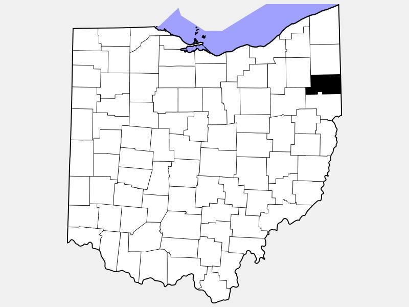 Mahoning County locator map