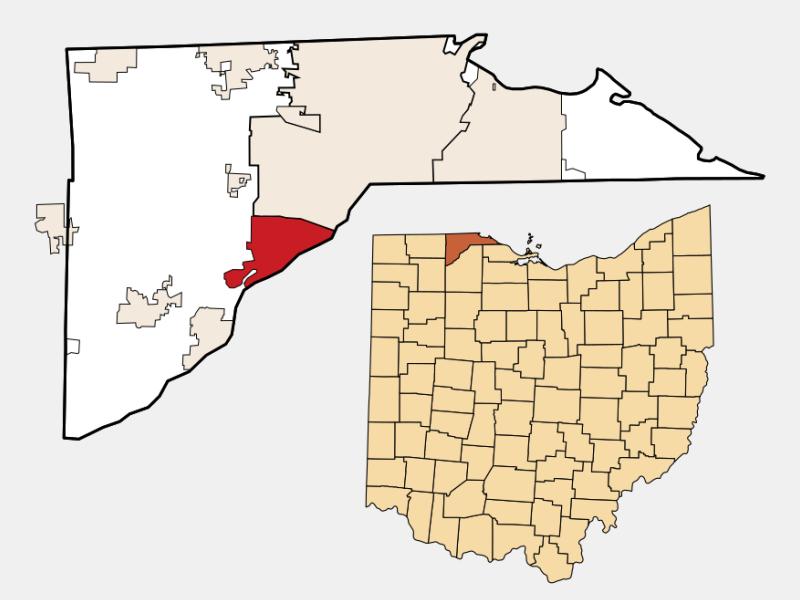 Maumee locator map