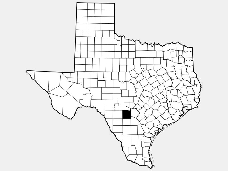 Medina County locator map