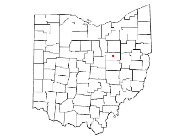 Millersburg locator map