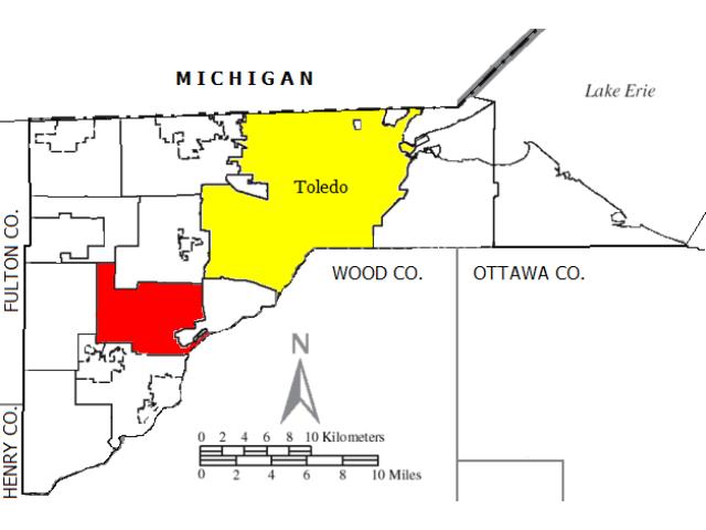 Monclova locator map