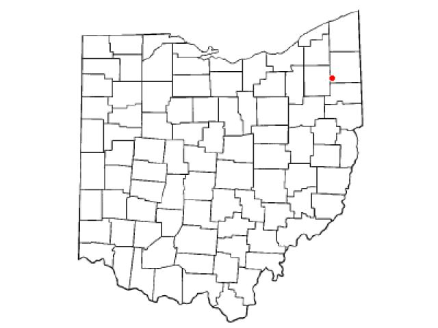 Newton Falls locator map