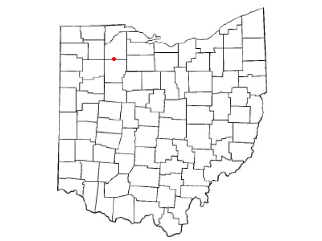 North Baltimore locator map