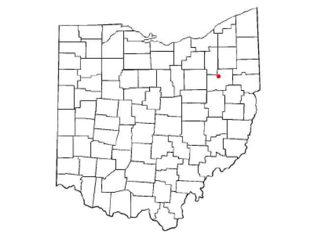 North Canton locator map
