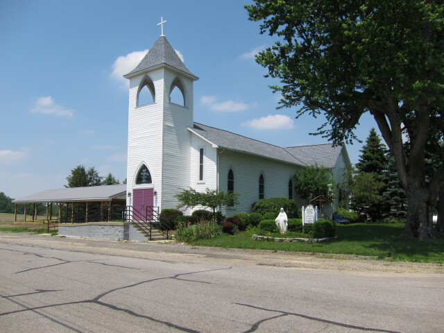 Immaculate Conception Catholic Church 'North Lewisburg  Ohio' - exterior  front quarter view image