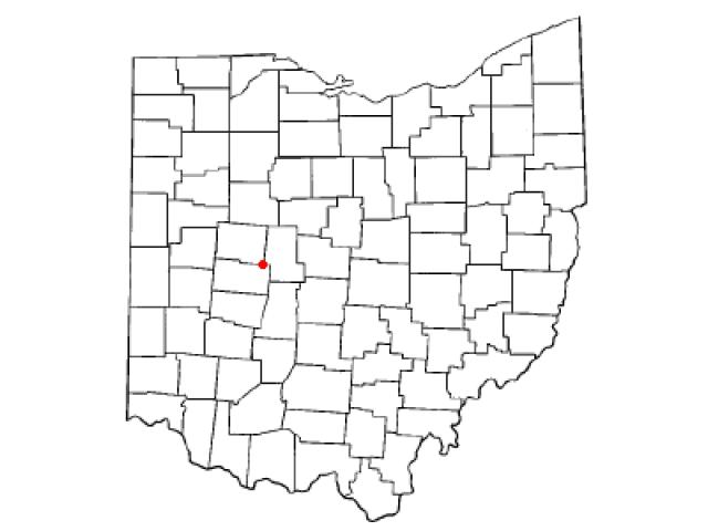 North Lewisburg locator map