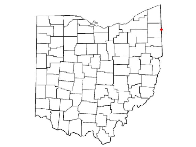 Orangeville locator map