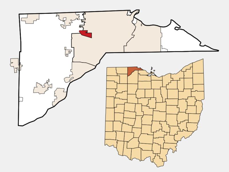 Ottawa Hills locator map