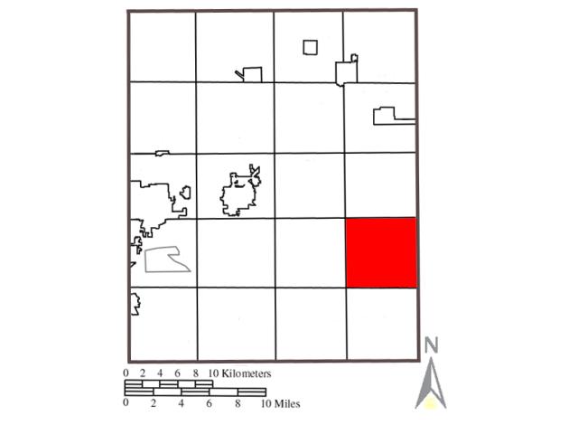 Palmyra locator map