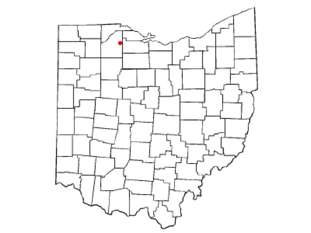 Pemberville locator map