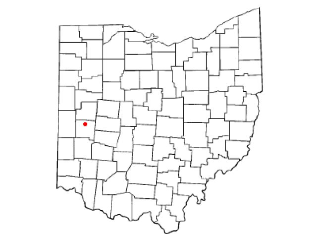 Piqua locator map