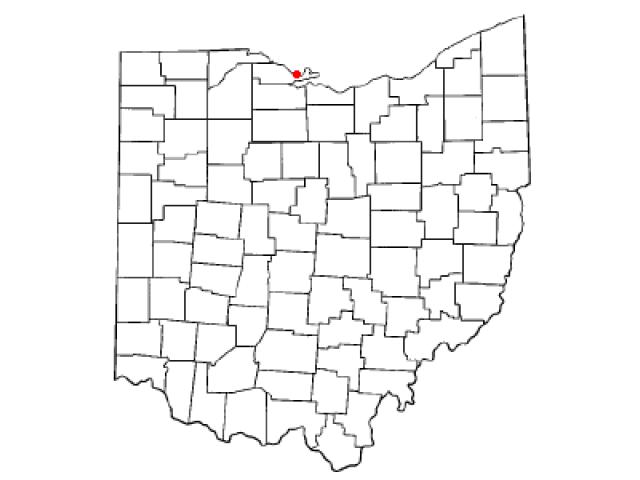 Port Clinton locator map