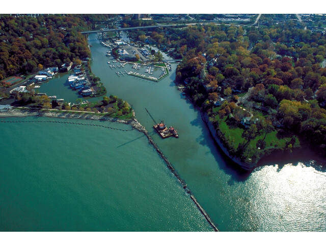 Rocky River Ohio aerial view image