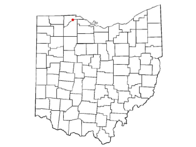 Rossford locator map
