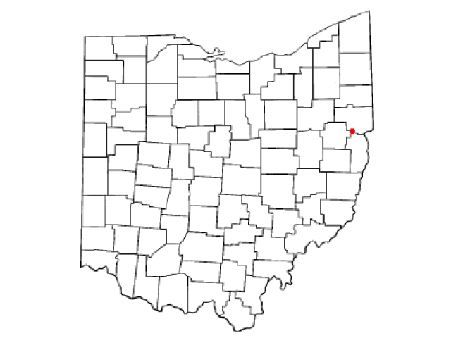 Salineville locator map
