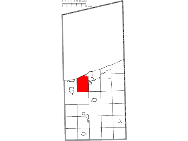 Saybrook locator map