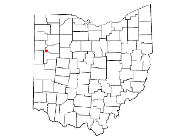 Spencerville locator map