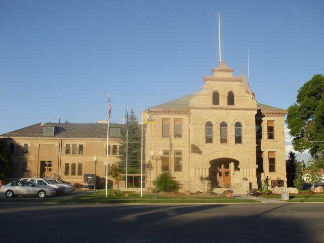 Summit County Courthouse Coalville Utah. image