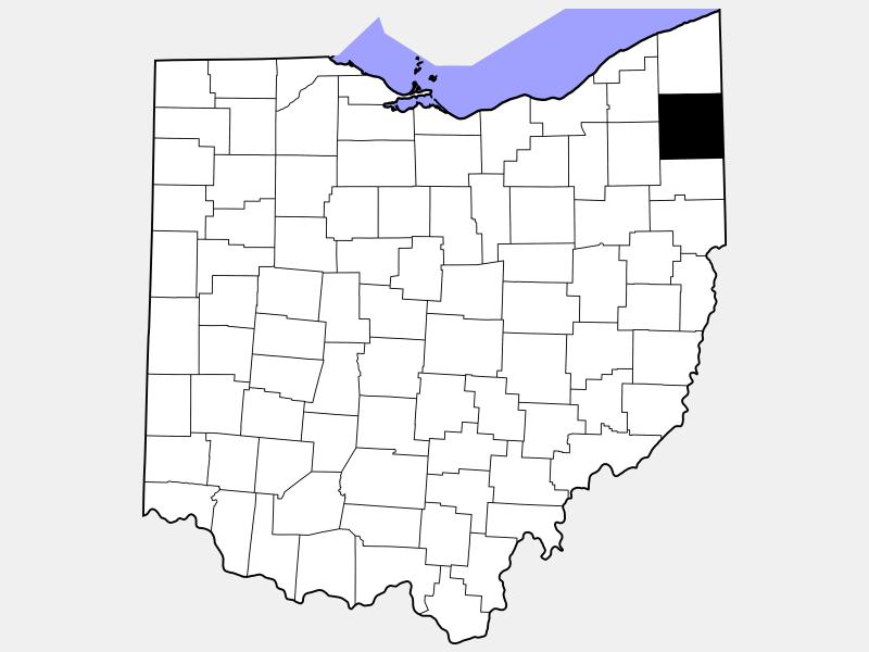 Trumbull County locator map