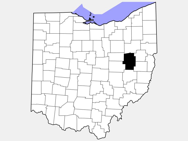 Tuscarawas County locator map