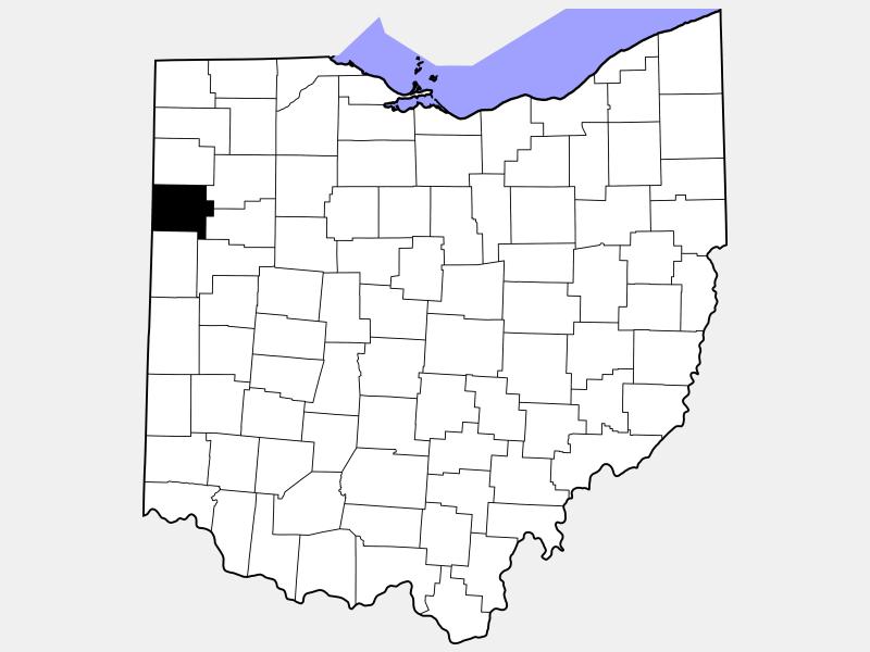 Van Wert County locator map