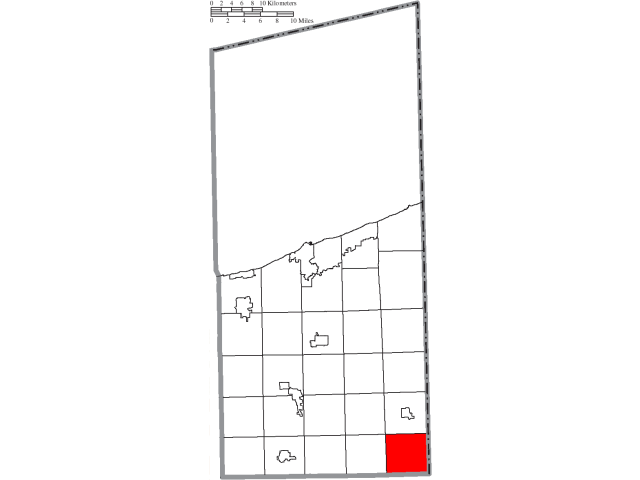 Williamsfield locator map
