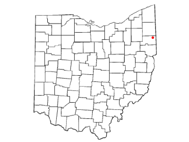 Youngstown locator map
