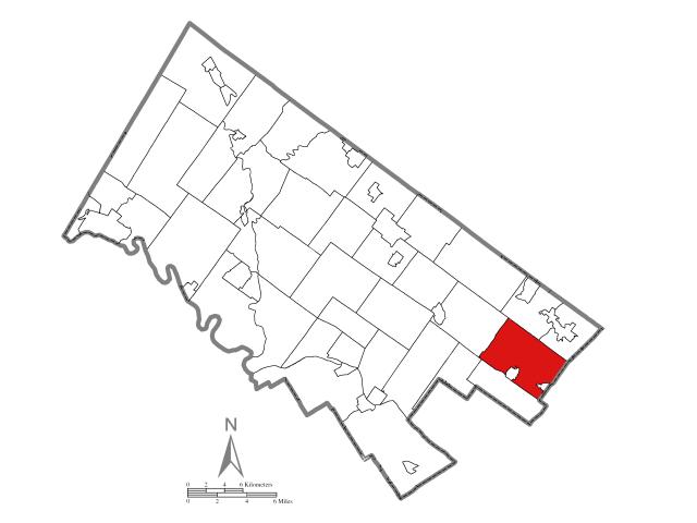 Abington locator map