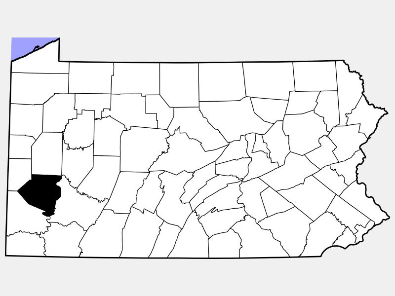Allegheny County locator map