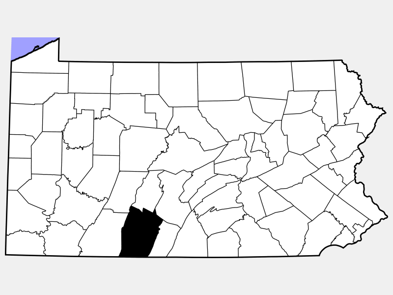 Bedford County locator map